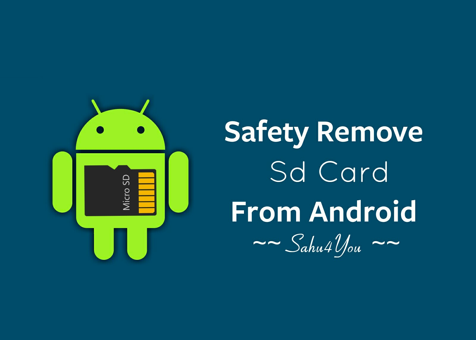 How To Hide/Remove Sd Card On Android (Safety Trick)