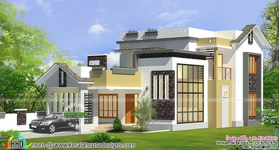1600 sq-ft modern house by Ar. Ajmal Zain