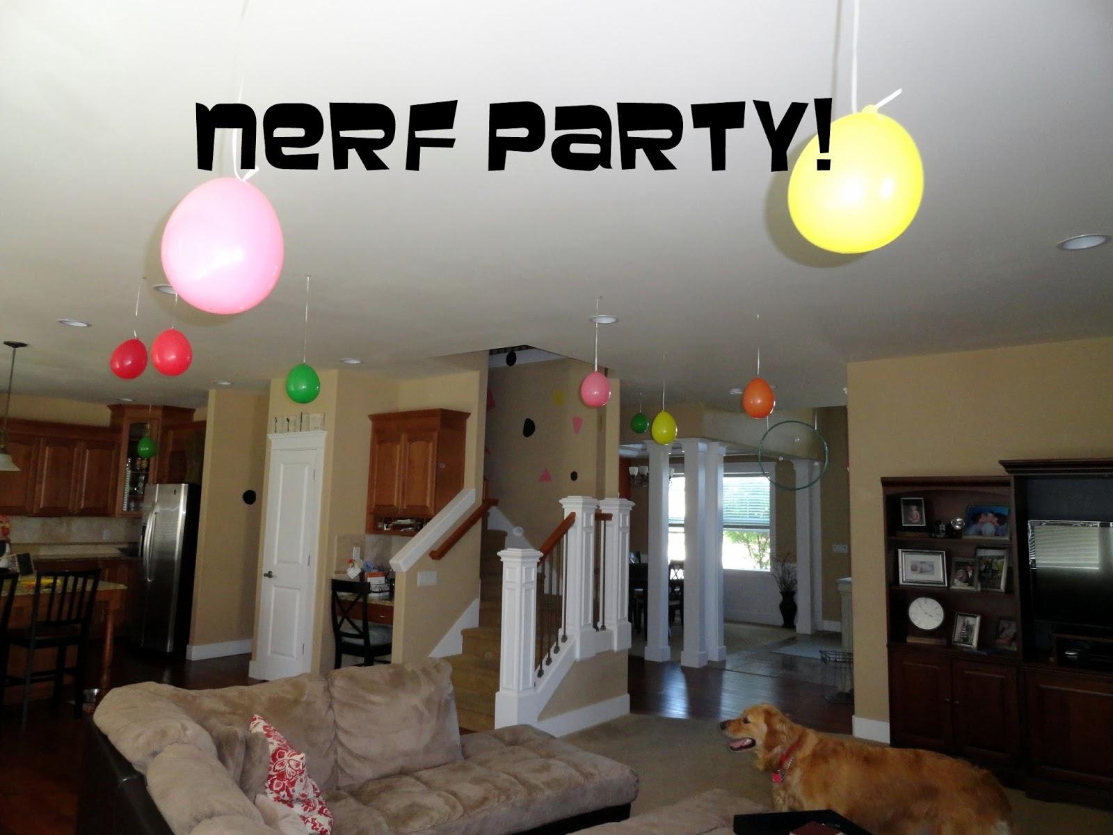 Nerf target practice birthday party Rachel Teodoro