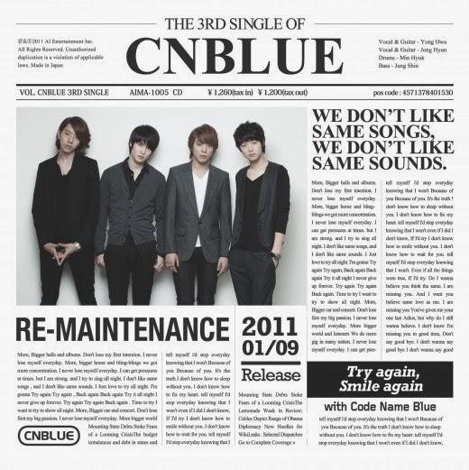 [Single] CNBLUE – Re-Maintenance (Japanese) (FLAC)