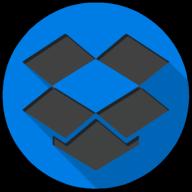 dropbox colorful button