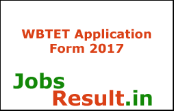 WBTET Application Form 2017