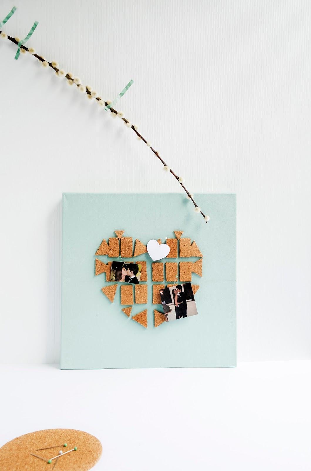 Diy: Canvas met een hart als prikbord