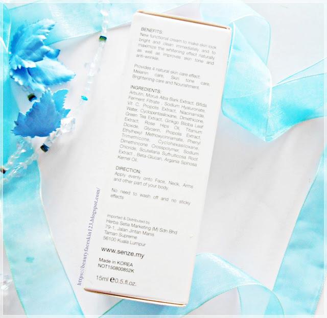 Senze Milky Skin the Premium Face Brightening&Anti Wrinkles