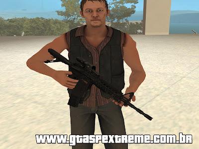 Rifle M4A1 PMAG com EOtech & Magnifier para GTA San Andreas