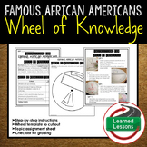 Famous African Americans Wheel of Knowledge