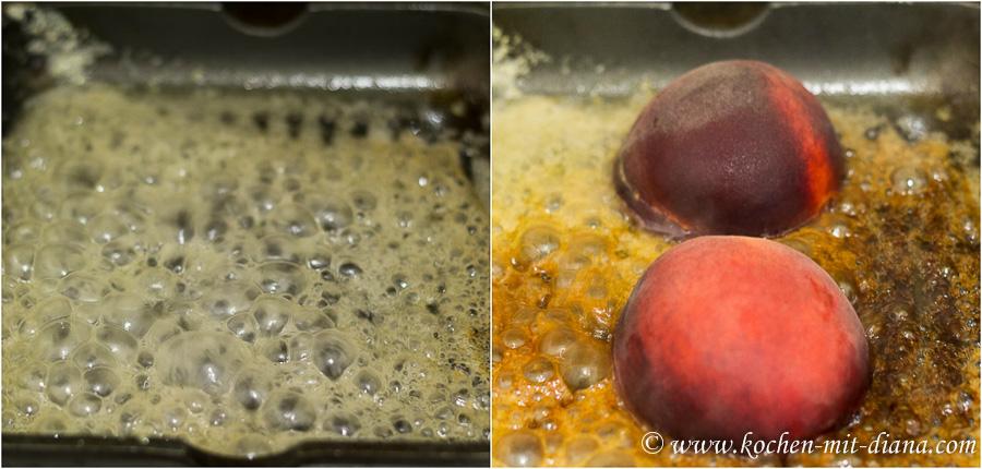 Pfirsiche braten