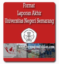 Format Laporan Akhir dan Paparan Pembekalan PLPG Rayon 112 Universitas Negeri Semarang