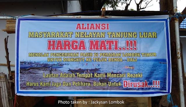 Tolak Reklamasi Teluk Benoa, Tolak Pengerukan Pasir Lombok