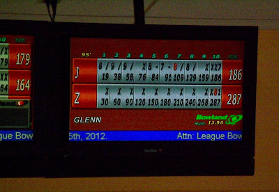 Zack Wiant, one roll short of a perfect game of bowling