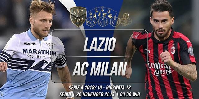 Prediksi Lazio vs AC Milan, Rabu 27 Februari 2019 Pukul 03:00 WIB