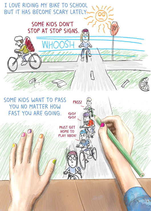 A post from Gwen: Riding bikes to school