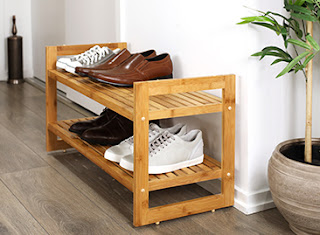 Tidy Living Wooden Shoe Rack
