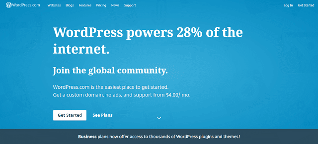 Wordpress.com is also a great blogging platform to start a free blog and you can also make it to the next level by purchasing a wordpress plan