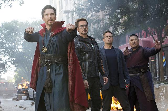 Doktor Strange, Tomy Stark, Iron Man, Bruce Banner, Hulk, Wong, Nowy Jork, Avengers, Infinity War