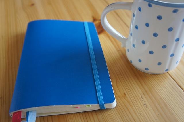 blaues Bullet Journal