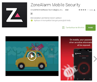 ZoneAlarm Mobile Security di Android