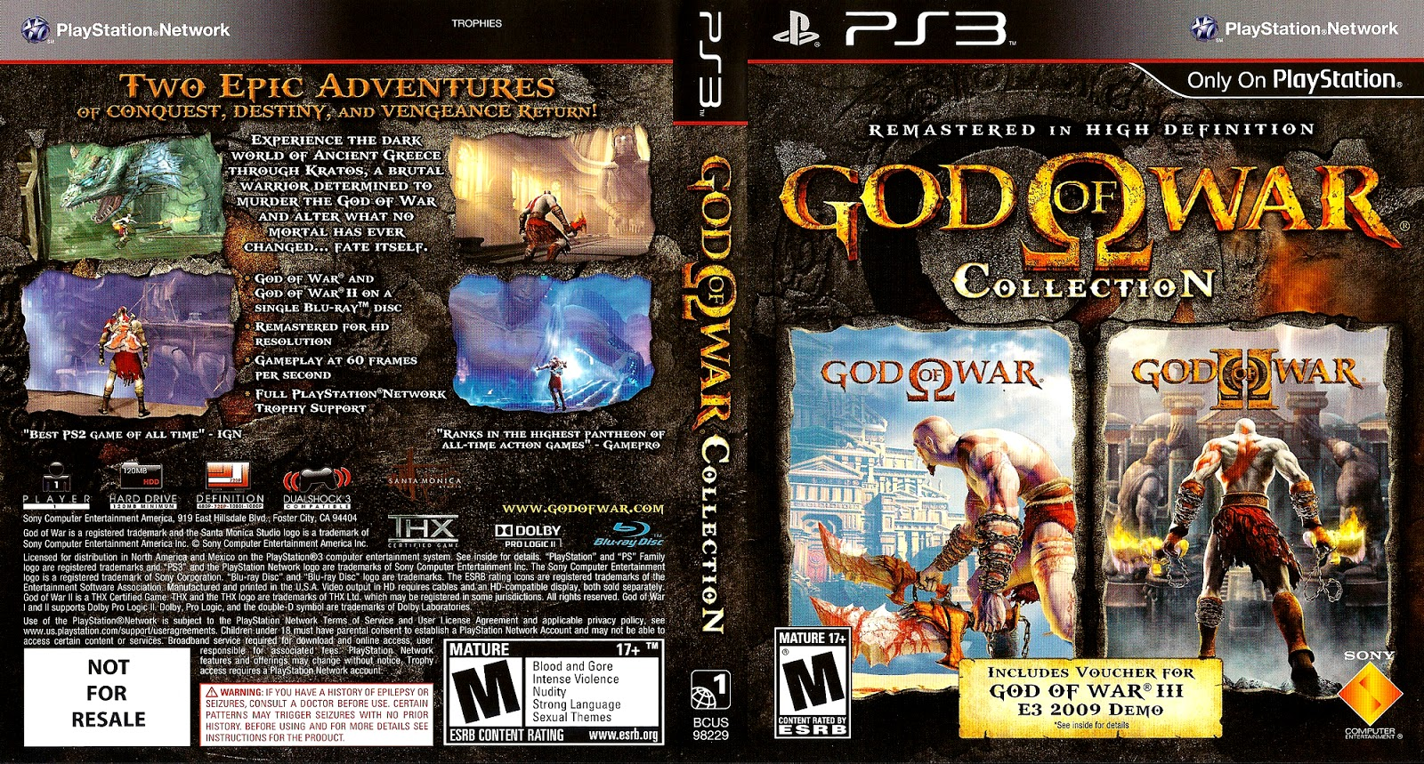 Ps3 god of war collection торрент.