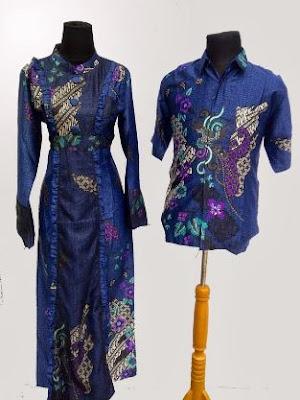 Baju batik gamis pasangan anak muda terbaru