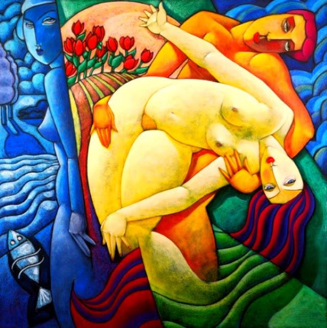 Абстрактные и фигуративные картины. John Noy