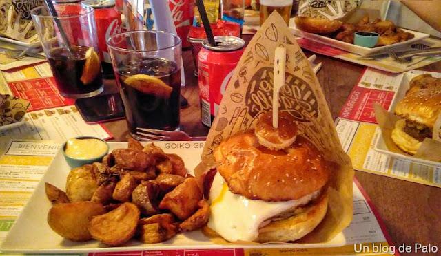 Goiko Grill Madrid, hamburguesa pigma