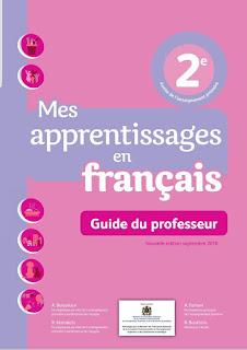 Guide du professeur: Mes apprentissages en français 2ème AEP (Edition Septembre 2018)