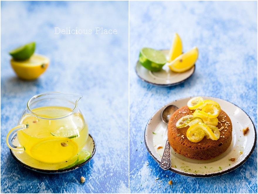 Ciasto sezamowe z syropem z limoncello