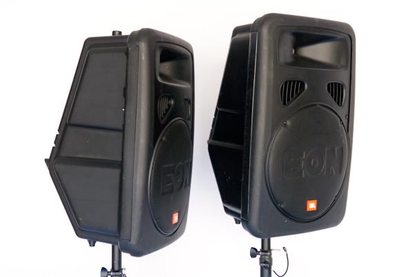 heygreenie jbl eon15 g2 speaker monitor w ultimate stands orig boxes. Black Bedroom Furniture Sets. Home Design Ideas