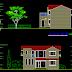 مشروع منزل عائلي صغير رائع اتوكاد Family house dwg