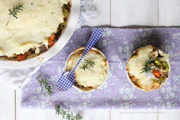 vegan lentil shepherds pie for vegetarian Thanksgiving