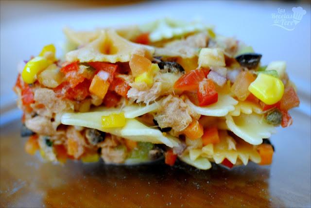 Ensalada de pasta atún y vegetales tererecetas 02