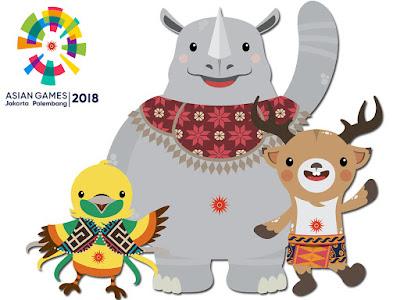 Maskot Asian Games 2018 Jakarta-Palembang