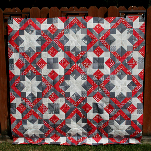 Traditional Square Quilt Free Pattern designed by Melanie Tuazon of Melintheattic