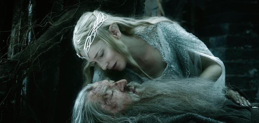 Galadriel şi Gandalf în Hobbitul: Bătălia Celor Cinci Oştiri