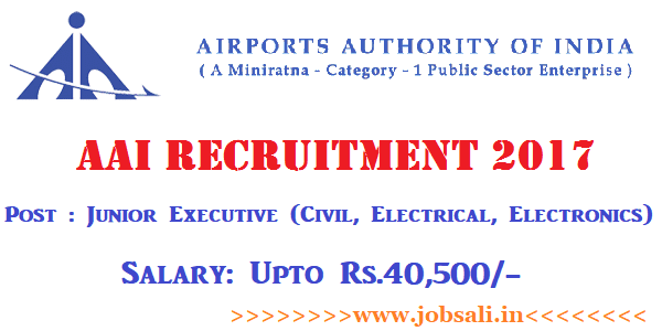 Airport Authority of India Recruitment 2017, Airport Jobs, Govt jobs for 12th pass