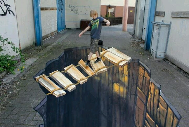 3D floor art: 3d flooring to use in the interior
