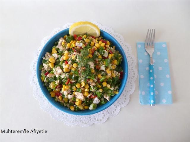 somonlu balık salatası