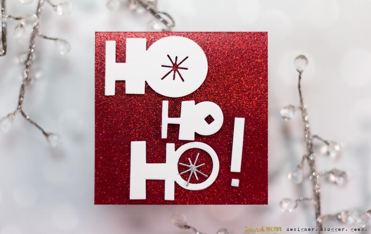 Seven Hills Crafts Blog: Ho Ho Ho! Sparkly Christmas Card
