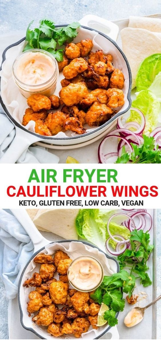 Air Fryer Cauliflower Wings