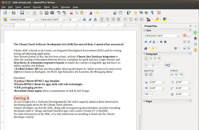 Nova Barra do Libre Office 4.1