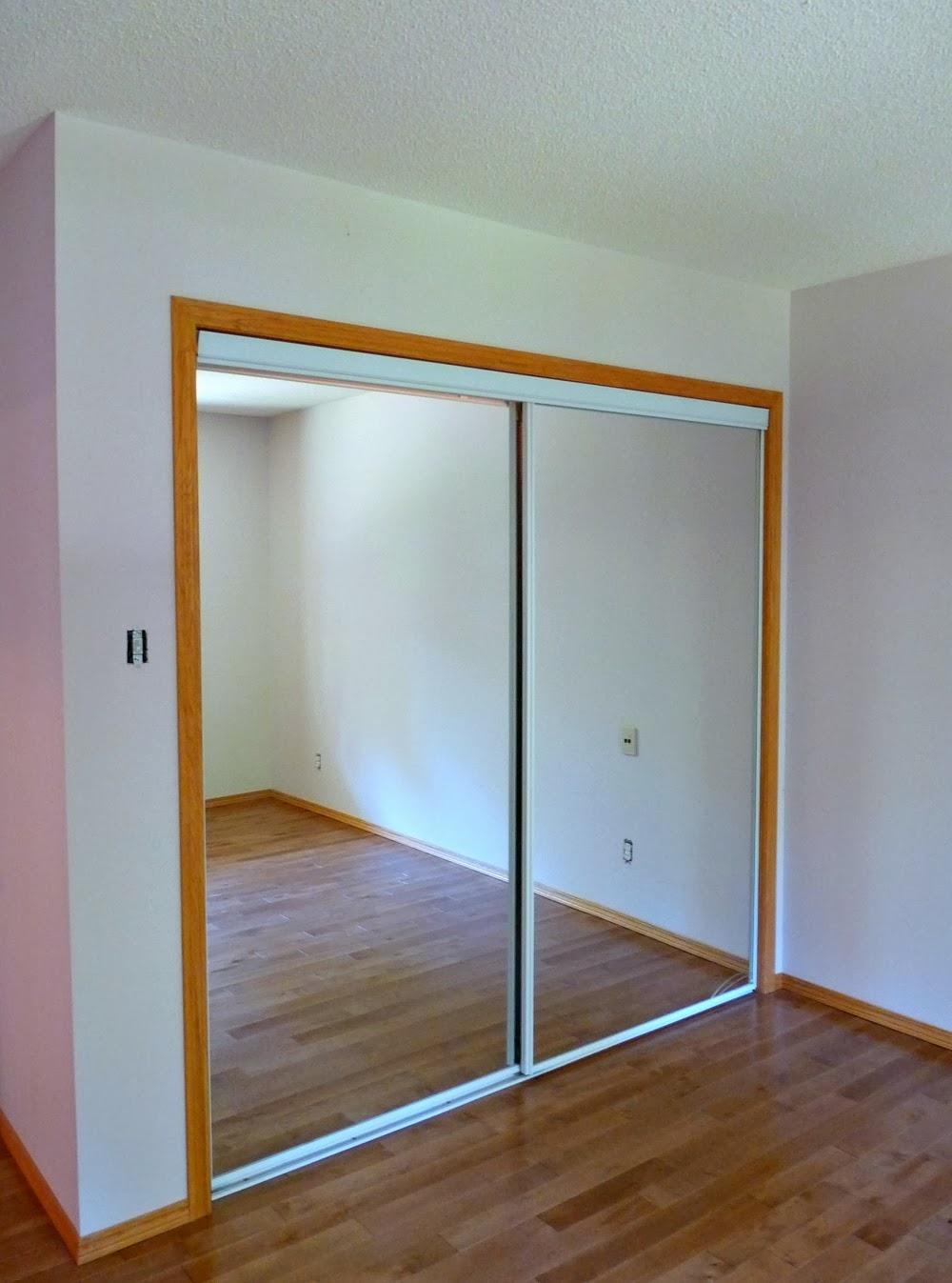 Before: Mirrored Closet Doors