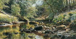 pintor paisajista al oleo