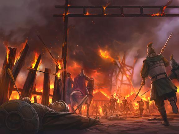 Chapter 40 : Lady Cai Renounces Jingzhou; Zhuge Liang Burns Xinye.