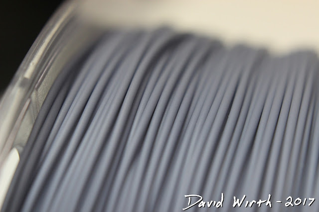 closeup of pla filament