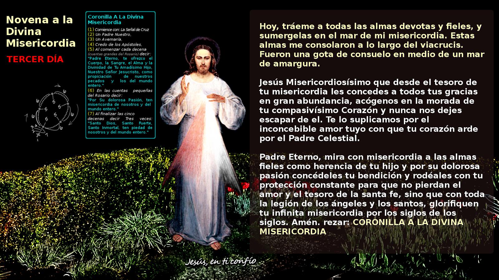 novena divina misericordia 3 dia