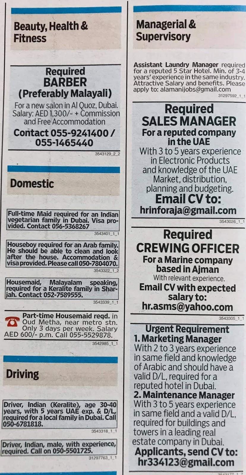 Various Jobs Available in UAE Local Hiring Jobs Khaleej