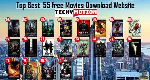 Top Best  55 free movies download Website