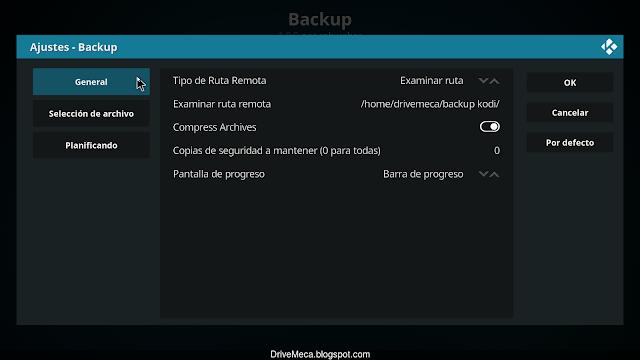 Habilitamos la compresion de backups