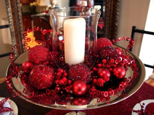 Resultado de imagem para centro de mesa para Natal
