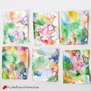 painting ideas for kids - marbling painting
